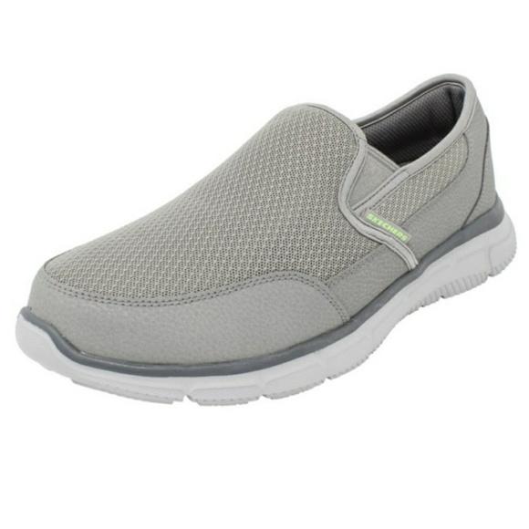 skechers memory foam slip on tennis shoes